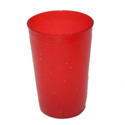 Big Plastic Glass - Drinking Glass - Plastic Serving Glass - Red Color