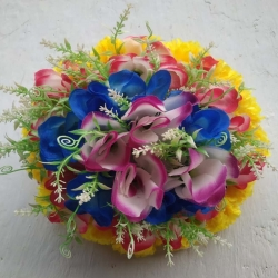 1 FT - Artificial Plastic Hanging Flower Ball - Flower Decoration - Multi Color