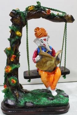 Ganesh ji Jhula Idols - Center Table Item - Multi Color