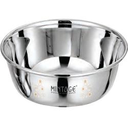 5.5 Inch - Bowl Vinod - Laser Bowl - Mirror Finish - Made Of Stainless Steel - Set Of 6