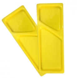 11 Inch X 4 Inch - Serving Platter - Made of  Plastic - Rectangular Shape - Yellow Color