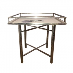 Square Table - Made Of Steel - Water Bottle Stand
