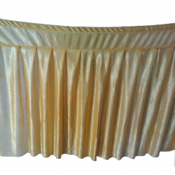 Table Cover Frill - Made of Brite Lycra - 24 Gauge - Golden Color (Size Available 15 FT X 20 FT X 30 FT)
