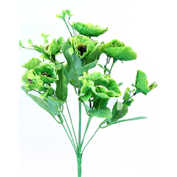 Height 14 Inch - Anemone Bunch X 9 - AF- 268 - Leaf Bunch - Green Color