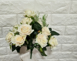 14 Inch Artificial Flower Bunches - Flowers Artificial Leaf For Wedding - Reception - Home Decor