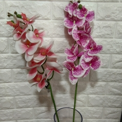39 Inch  - Plastic Artificial Flower - Rubber -  Flower Bounch - Flower Stick - Made Of Plastic