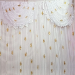 10 FT X 15 FT - Designer Curtain - Parda - Stage Parda  - Wedding Curtain - Mandap Parda - Back Ground Curtain - Side Curtain -  Made of 24 Gauge Brite Lycra - White Color