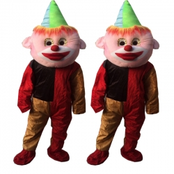 Cartoon Costume - Adult Mascot Mascot - Party Mascot - Made of High Quality Plush Material - Multi Color - Set of 2