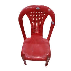 Fiber Arm Less Chair - A Relaxing Seating Experience Indoor-Outdoor - chair Red color