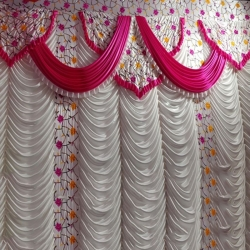 10 FT X 15 FT - Designer Curtain - Parda - Stage Parda  - Wedding Curtain - Mandap Parda - Back Ground Curtain - Side Curtain -  Made of 24 Gauge Brite Lycra - Multi Color