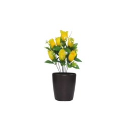 1.2 FT - Artificial Flower Bunches - Fake Flowers Artificial Plant without Pot - Yellow Color