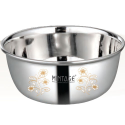 5 Inch - Bowl Pearl - Laser Bowl - Mirror Finish - Made Of Stainless Steel - Set Of 6