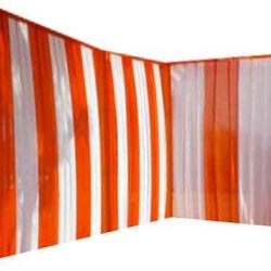 10 FT X 15 FT - Parda - Curtain - Stage Parda - Wedding Curtain - Mandap Parda - Made of 24 Gauge Brite Lycra - Orange & White Color