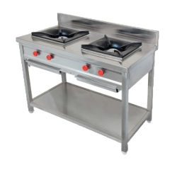 Two Burner - Gas Range - Made Of Stainless Steel