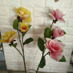 38 Inch - Artificial Flower Bunches - Rubber - Fake Flowers Artificial Plant For Wedding - Reception - Home Decor - Multi Color