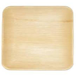9 Inch - Square Plate - Disposable Dinner Plate - Areca Leaf Square Plates.