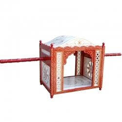 Sankheda Bridal Doli - Palki God - Made Of Wood - White & Red Color