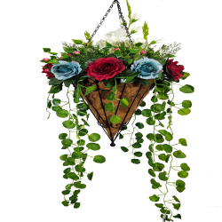 45 Inch - Artificial Flower - Hanging Basket - Flower Decoration - Multi Color