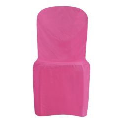 Lycra Cloth Chair Cover - Without Handle - For Plastic Chair - Armless - Maharani Pink