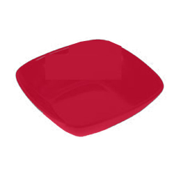 4 Inch - Square Bowls - Curry Bowls - Made Of Food-Grade Regular Plastic - Red Color