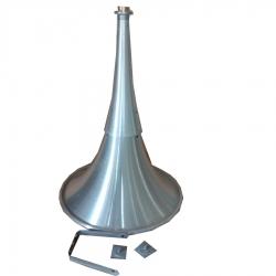 22 Inch - Aluminium Trumpet Horn - 18 Gauge Horn - Made of Aluminium
