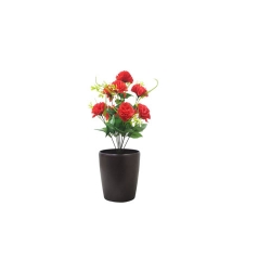 1.2 FT - Artificial Flower Bunches - Fake Flowers Artificial Plant without Pot - Red Color