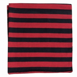 7 FT X 10 FT - Regular Quality - Dari - Dhurrie - Rugs - Satranji - Floor Mat - Red & Black color - Weight - 2.5 Kg