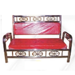 3 - Seater 100 % Stainless Steel Royal Sofa - VIP Sofa Made Of Stainless Steel - Red Color