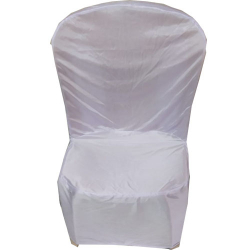Lycra Cloth Chair Cover With Lycra Cap - Without Handle - For Plastic Chair - Armless - Yellow & White Color