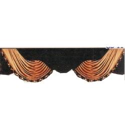 10 FT - Black & Golden Color - Jhalar - Mandap Jhalar For Wedding & Party - Made of Heavy Brite Lycra Cloth