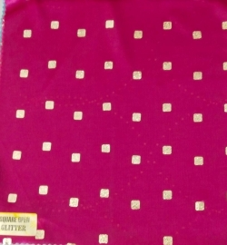 Square Open Glitter - 24 Gauge Brite Lycra - 54 Inch Panna - Tikli Work - Plum Color