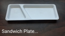 Sandwitch Plate  - Made Of Food Grade Virgin Plastic - White Color