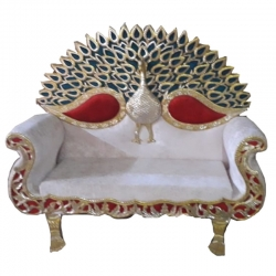 White Color - Premium Jaipur - Jodhpuri Metals - Heavy - Couches - Sofa - Wedding Sofa - Wedding Couches - Made Of Wooden & Metal