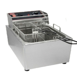 5+5 LTR - Deep Fryer - Friench Fryer - Double Electric - Gas With Stand - Made Of Stainless Steel