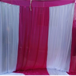 10 FT X 20 FT - Designer Curtain - Parda - Stage Parda - Wedding Curtain - Mandap Parda - Back Ground Curtain - Side Curtain - Made Of 28 Gauge Brite Lycra - Multi Color