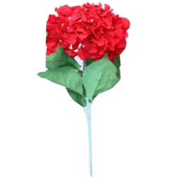 Height - 34 Inch - Hydrengea Flower Stick - Artificial Stick - AF- 305 - Stick - Red Color