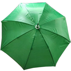24 Inch Height & 28 Diameter - Umbrella Handicraft Walking Stick Umbrella - Green Color