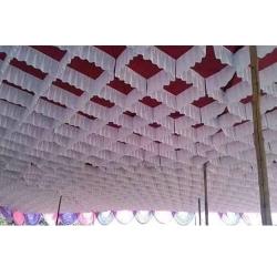 10 FT X 15 FT Designer Mandap Ceiling - Made of Brite Lycra Cloth - Multi Color