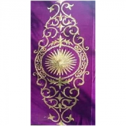 4 FT X 8 FT - Decoration Background Curtain - Entrance Decoration - Stage Decoration Cloth Made Of Velvet Fabric With Designing Of Moti Sitara Work - Purple Color