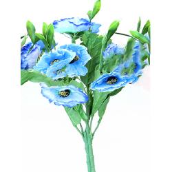 Height 16 Inch - Anemon 7 Stick Bunch -  AF- 264 - Leaf Bunch - Blue Color