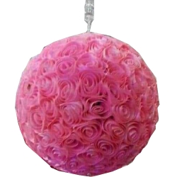18 Inch - Artificial Plastic Hanging Flower Ball - Flower Decoration - Pink Color