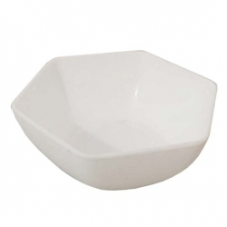 3.5 Inch Itching Hexagonal Bowl - Wati - Katori - Curry Bowls Made Of Food Grade Virgin Plastic - White Color