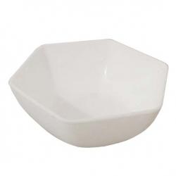 3.5 Inch Itching Hexagonal Bowl - Wati - Katori - Curry Bowls Made Of Food Grade Virgin Plastic - White Color