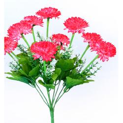 Height 16 Inch - Deliya Bunch - AF- 562 - Leaf Bunch - Red Color