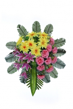 1.5 FT - Artificial Plastic Flower Bouquet - Flower Decoration - Multi Color
