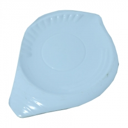7 Inch X 5.5 Inch - Snacks Plate - Quarter Plate  Made of Food Grade Plastic - White Color