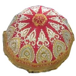 3 FT - Hand Work -  Decorative Umbrella - Finish Fancy Umbrella - Wedding Umbrella - With Pipe - Red Color