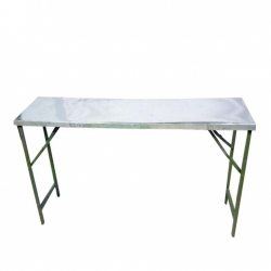 2.5 FT X 5 FT - Rectangle Table - Top Galvanized Sheet - Made of Iron - Weight - 14 Kg