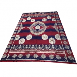 9 FT X 12 FT - Galicha - Carpet - Rugs - Dhurrie - Dari - Floor Mat - Satranji - Made Of Cotton - Multi Color