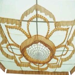 15 FT X 15 FT - Designer Mandap Ceiling - Wedding Top - Base Made of 16 KG Taiwan  - Work 24 Gauge Brite Lycra - Multi Color